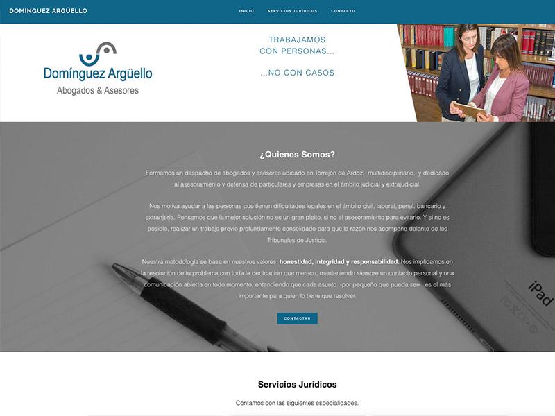 Sitio Web Dominguez Argüello