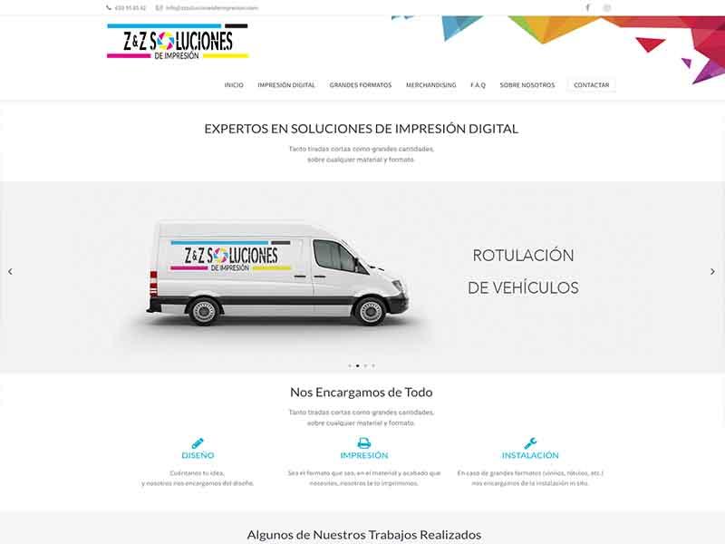 Web ZZ Soluciones de Impresión